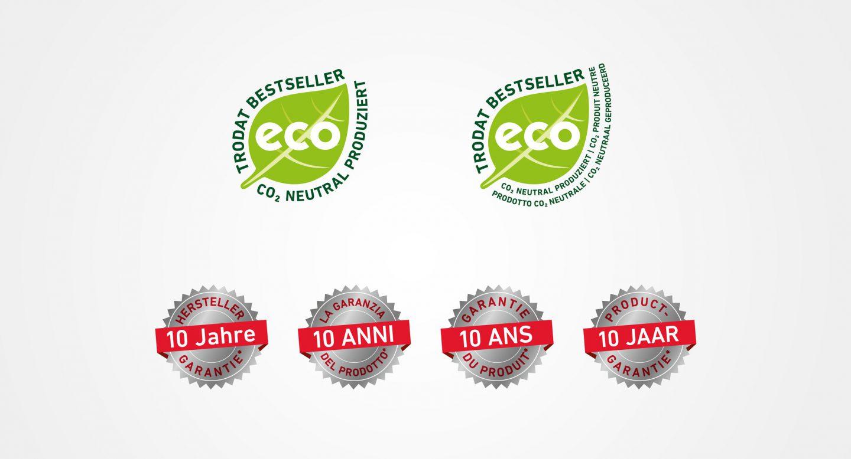 Steffen und Bach Projekte - trodat Logos
