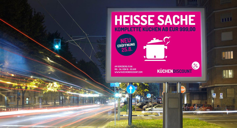 Steffen und Bach Projekte - Küchendiscount Außenwerbung