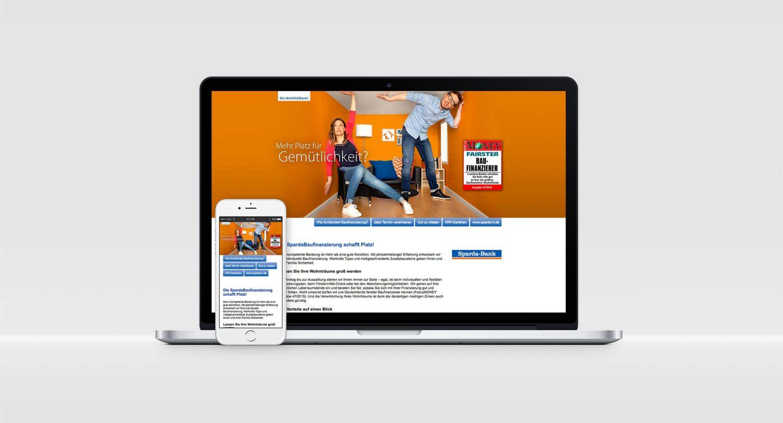 Steffen und Bach Projekte - BauFi Sparda-Bank Hannover Landingpage