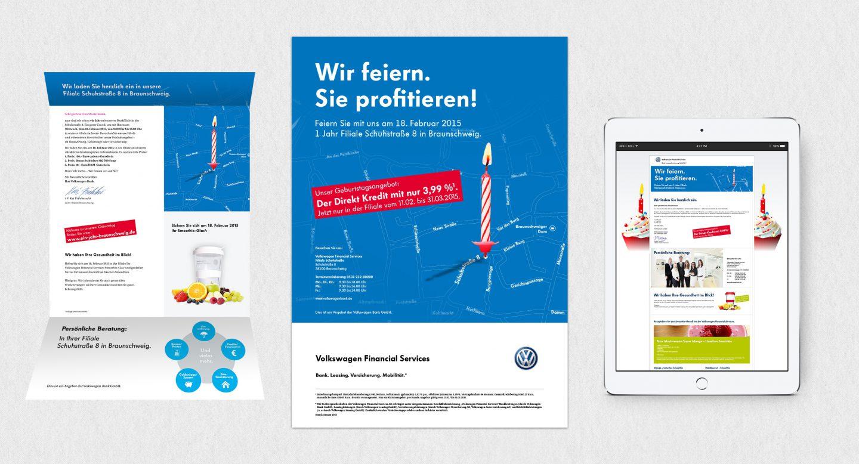 Steffen und Bach Projekte - Jubiläum Volkswagen Financial Services