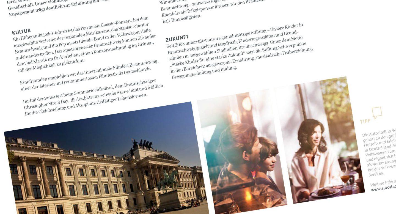Steffen und Bach Projekte - Recruiting Broschüre für Volkswagen Financial Services Innenteil