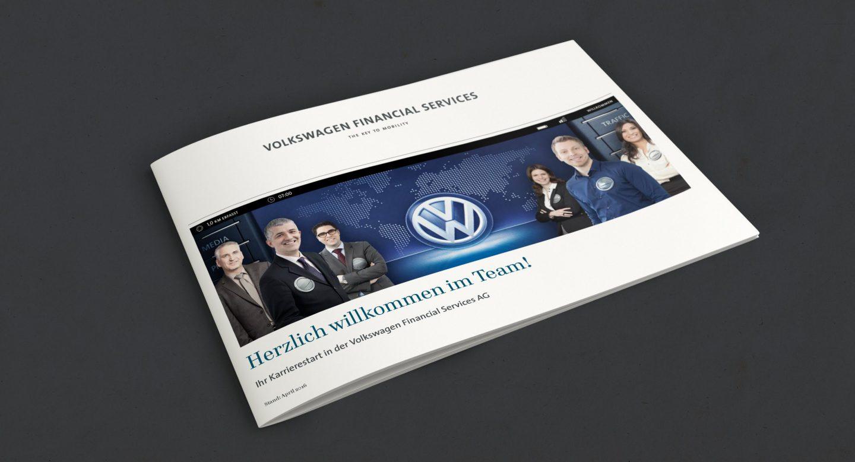 Steffen und Bach Projekte - Recruiting Broschüre Volkswagen Financial Services
