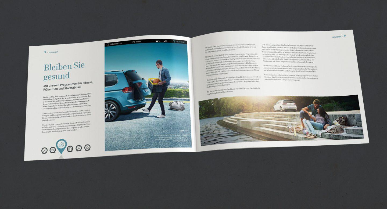 Steffen und Bach Projekte - Recruiting Broschüre Volkswagen Financial Services Innenteil