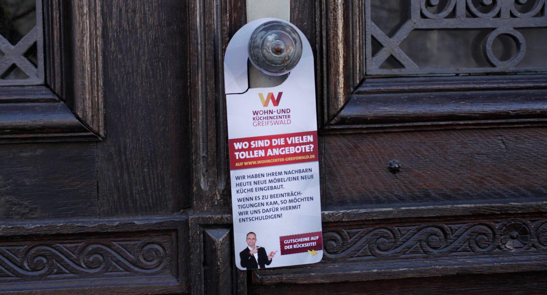 Steffen und Bach Projekte - Wohncenter Greifswald Türhänger