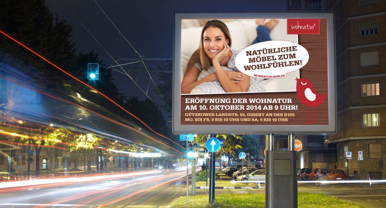 Steffen und Bach Projekte - Wohnatur Außenwerbung